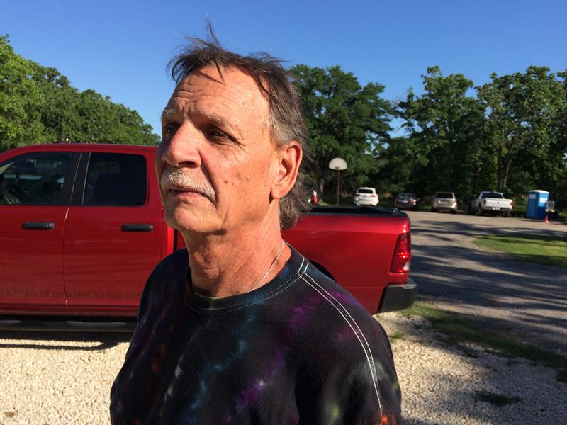 Jeff w/ Pickup Truck in Backgroud